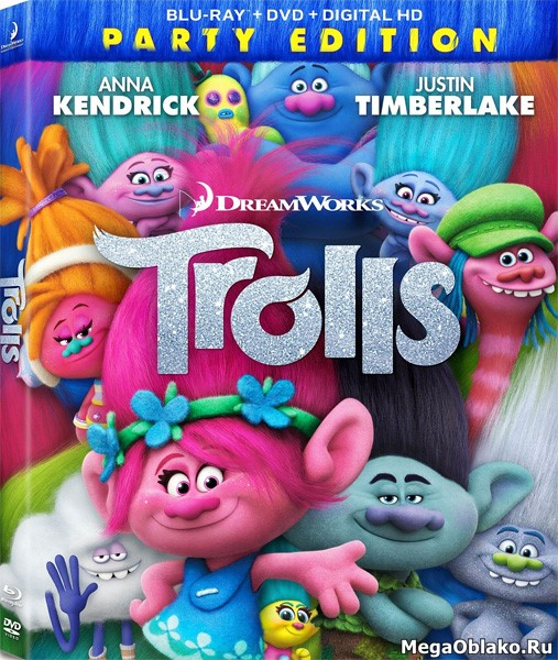 Тролли / Trolls (2016/BDRip/HDRip)