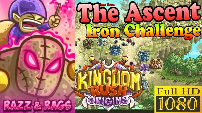 Kingdom Rush Origins HD - The Ascent Iron (Level 12) Hero Razz and Rags