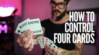 Magic Tutorial - How to Control Four Cards to the Top