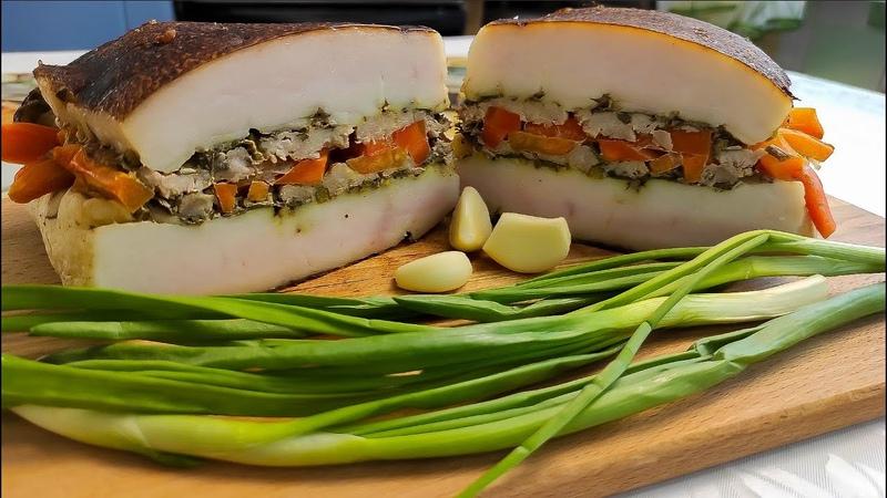 Из самого тонкого и дешевого сала готовлю деликатес вкуснее не бывает Delicacy made from the lard