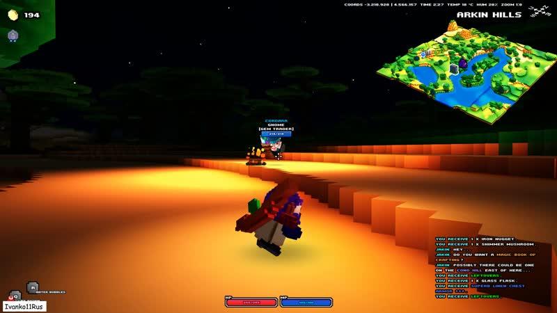 Cubeworld жарим гнома на костре потом охлаждаем